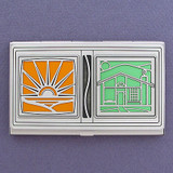 Solar House Business Card Case