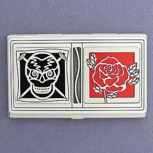 Skull & Rose Business Card Case