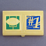#1 Football Team Business Card Holder