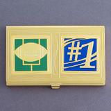 #1 Football Team Business Card Holder