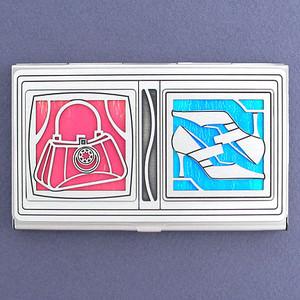 Fashionable Shopaholics Business Card Holder Case
