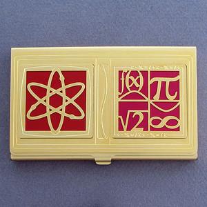 Nuclear Physics Business Card Case