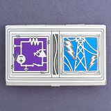 Electrical Engineering Business Card Holder Case