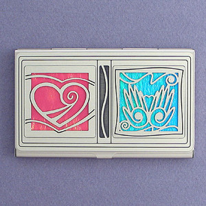 Heart and Hands Business Card Case