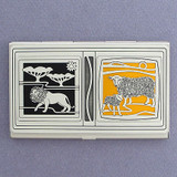 In Like a Lion, Out Like a Lamb Business Card Case