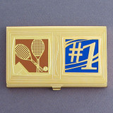#1 Tennis Player Business Card Holder