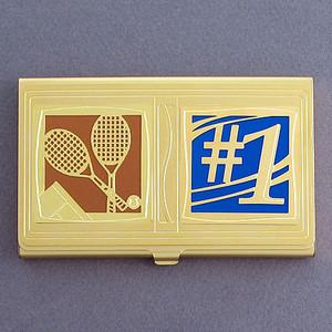 #1 Tennis Player Business Card Holder