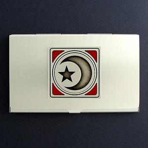 Star and Crescent Moon Islam Business Card Case