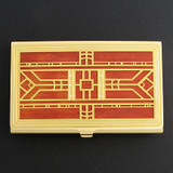 Craftsman Decorative Business Card Holder Case