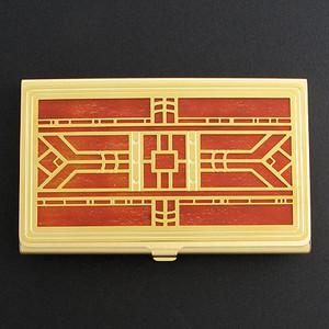 Craftsman Decorative Business Card Holder Case