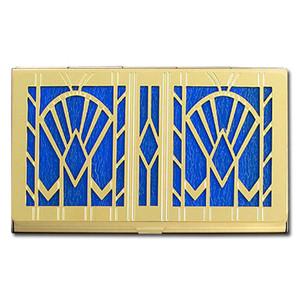 Art Deco Fans Decorative Business Card Case