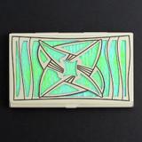 Contemporary Vortex Decorative Business Card Holder