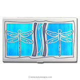 Dragonfly Decorative Business Card or Credit Card Holder
