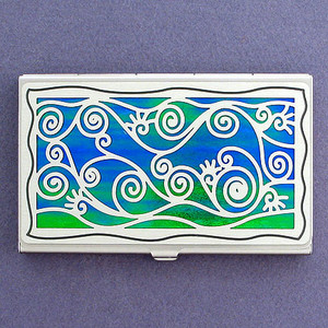 Vine Pattern Decorative Business Cards Holder