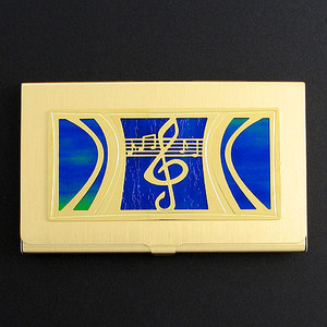 Musical Notes Business Card Holder