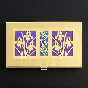 Iris Flower Business Card Holder