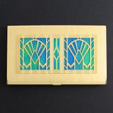 Art Deco Fans Business Card Holder