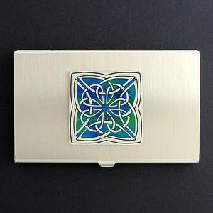 Celtic Knot Business Card Holder