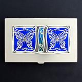 Butterflies Business Card Holder