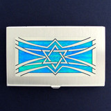 Jewish Star of David Business Card Holder