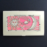 Sun Moon Stars Business Card Holder Case