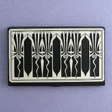 Retro Art Deco Business Card Holder Case in Black