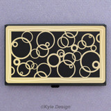 Abstract Circles Business Card Carrier