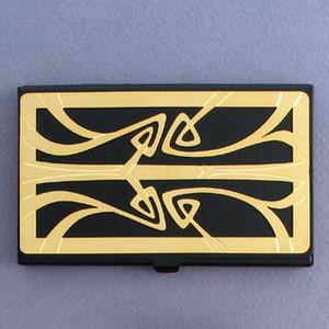 Art Nouveau Black Business Card Holder Case