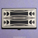 Milano Modern Black Business Card Case