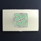 Four Leaf Clover Business Card Case
