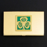 Irish Shamrock Business Card Holders