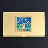 Asian Folding Fan Business Card Case