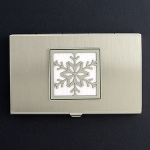 Snowflake Business Card Holders