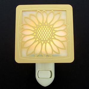 Stained Glass Sunflower Night Light
