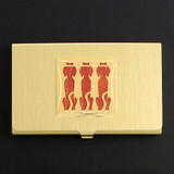 Big Dogs Business Card Holder Case in Gold