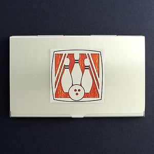 Bowling Business Card Case