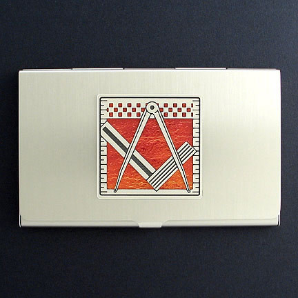 Masonic business card holders kyle design for Masonic business card holder