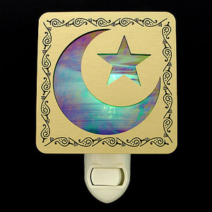 Islamic Star and Crescent Night Light
