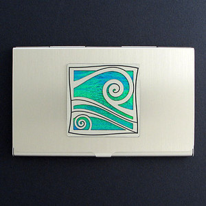 Wave Business Card Holders