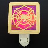 Firefighter Shield Night Light - Unique Firefighter Gift