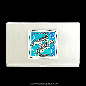 Alligator Business Card Holders