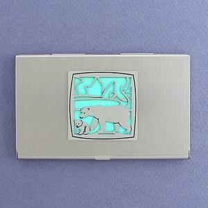 Polar Bear Business Card Holders