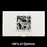 Zebra Business Card Holders
