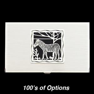 Zebra Business Card Holders
