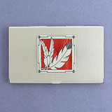 Indian Feather Business Card Holders
