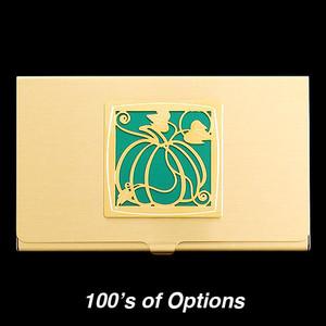 Pumpkin Business Card Holders