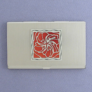 Hibiscus Flower Business Card Case