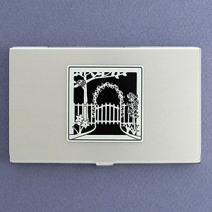 Garden Gate Business Card Holders