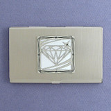 Diamond Motif Business Card Case