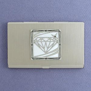 Diamond Motif Business Card Case